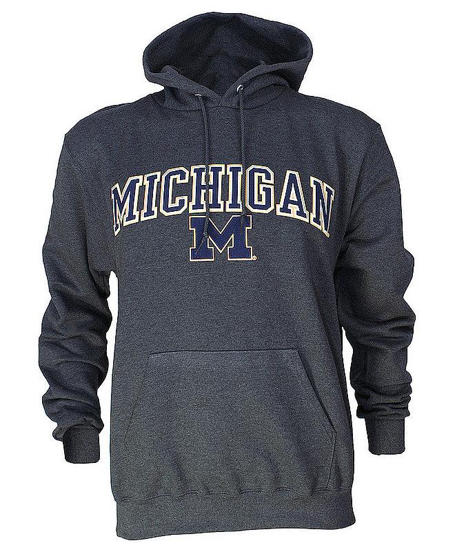 Michigan Wolverines Hoodie Sweatshirt Arch Gray MCH28354/AEC03197430