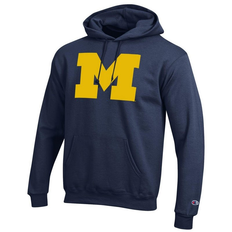 Michigan Wolverines Hoodie Sweatshirt Icon Navy APC02867872