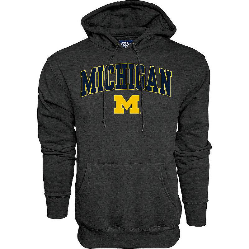 Michigan Wolverines Hoodie Sweatshirt Varsity Charcoal APC02845656