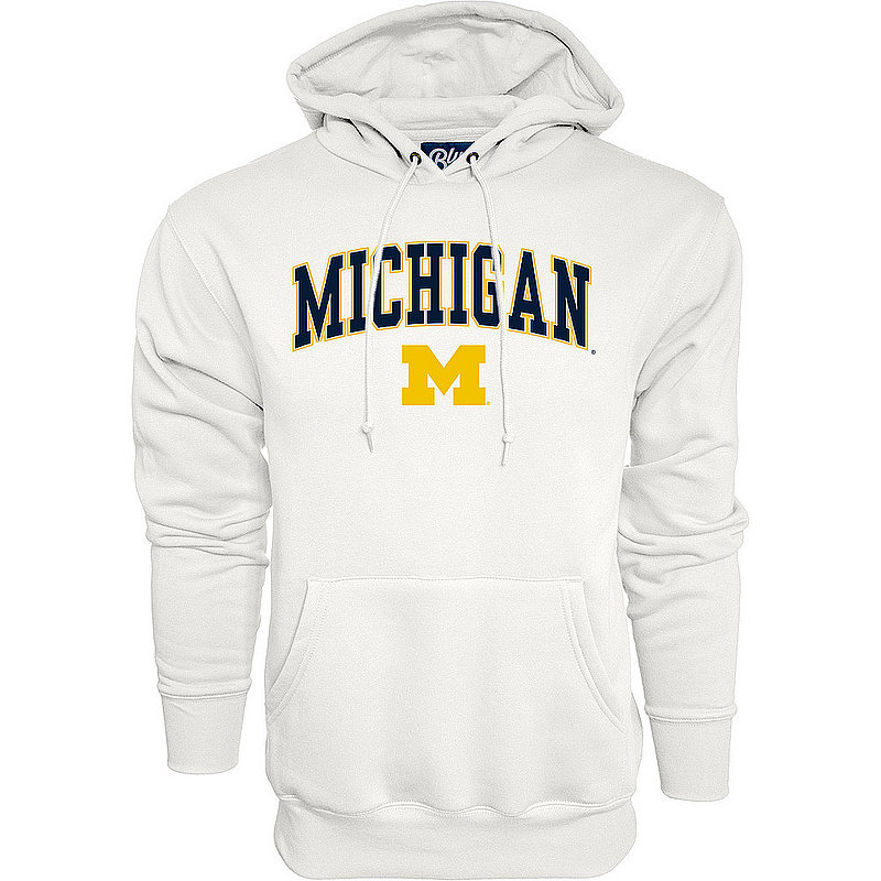 Michigan Wolverines Hoodie Sweatshirt Varsity White APC03006190