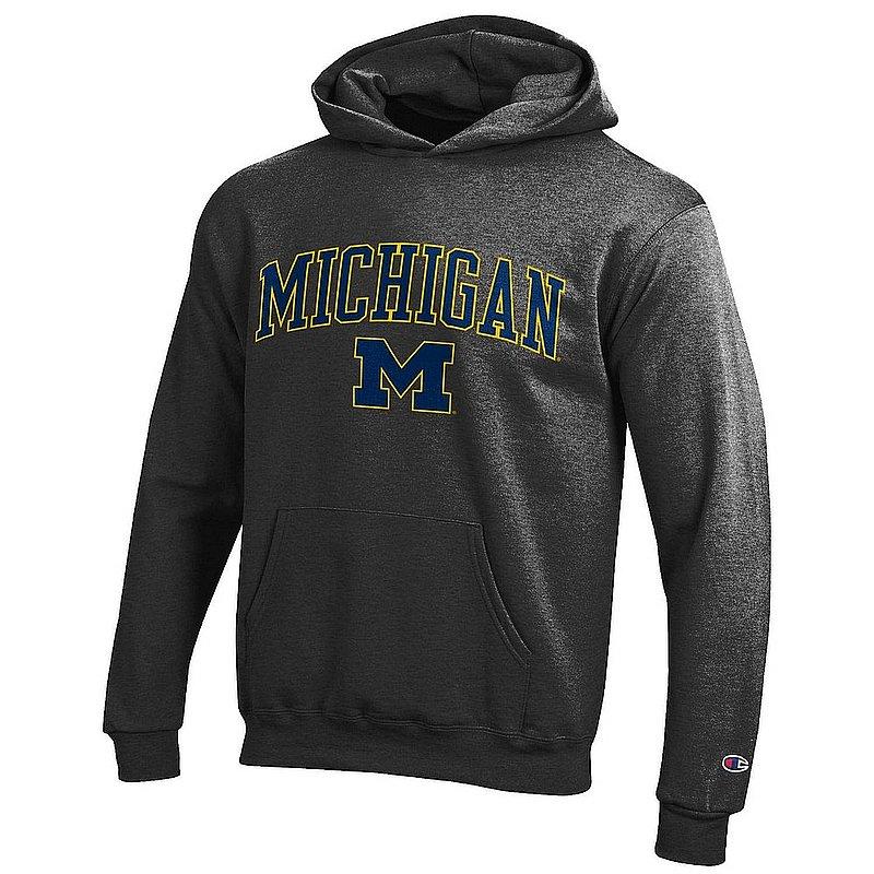 Michigan Wolverines Kids Hoodie Sweatshirt Arch Charcoal APC03008681