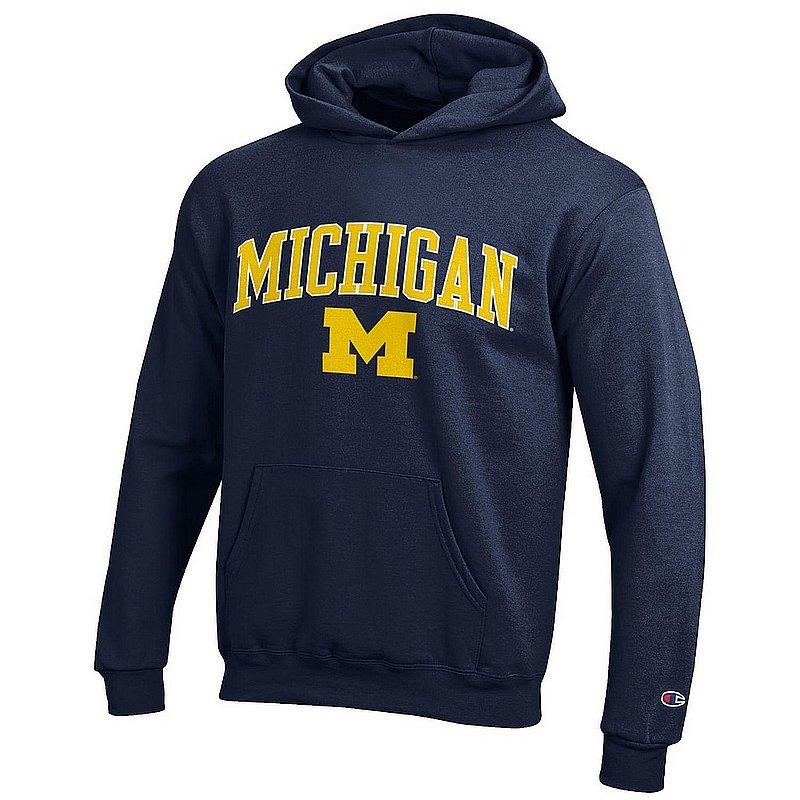 Michigan Wolverines Kids Hoodie Sweatshirt Arch Navy APC03008678