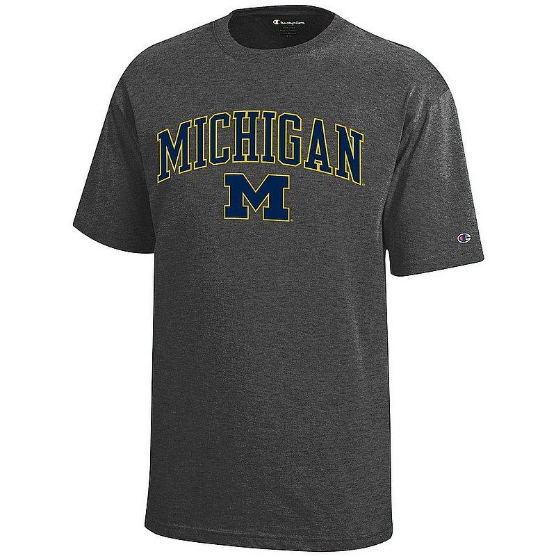 Michigan Wolverines Kids TShirt Arch Charcoal APC03008681