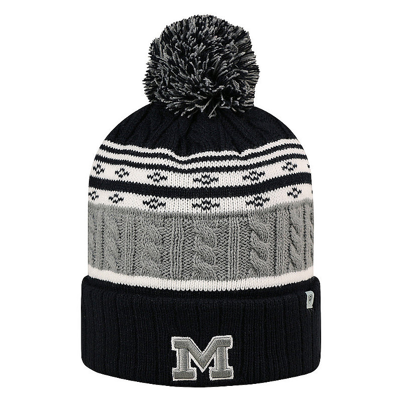Michigan Wolverines Knit Winter Beanie Pom Pom Hat ALTUD-MI-CKT-3TN