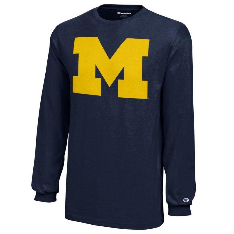 Michigan Wolverines Long Sleeve Tshirt Icon Navy APC02867872 X