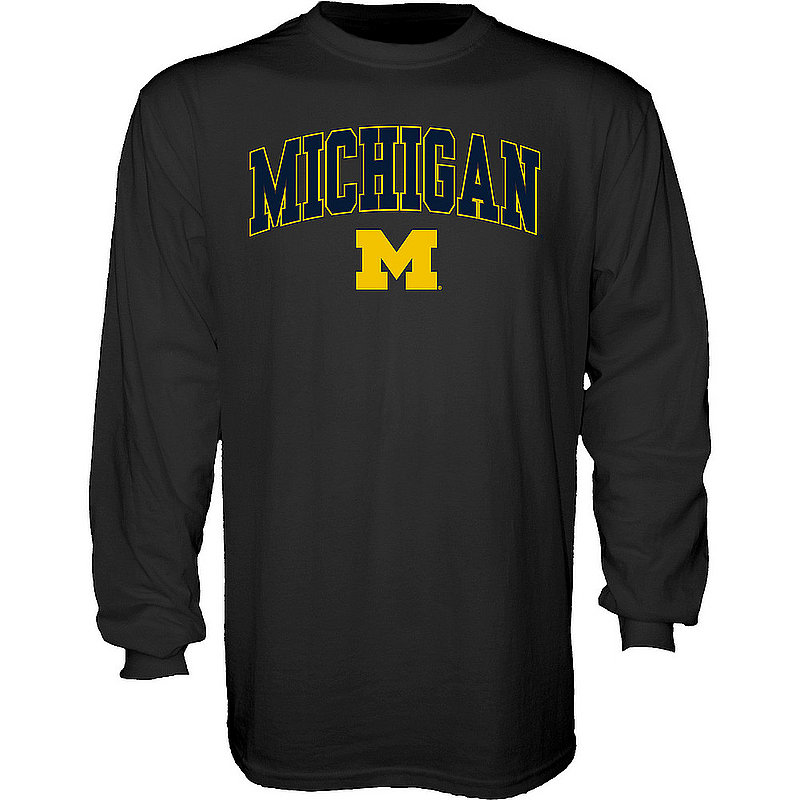Michigan Wolverines Long Sleeve Tshirt Varsity Black 00000000BCRB5
