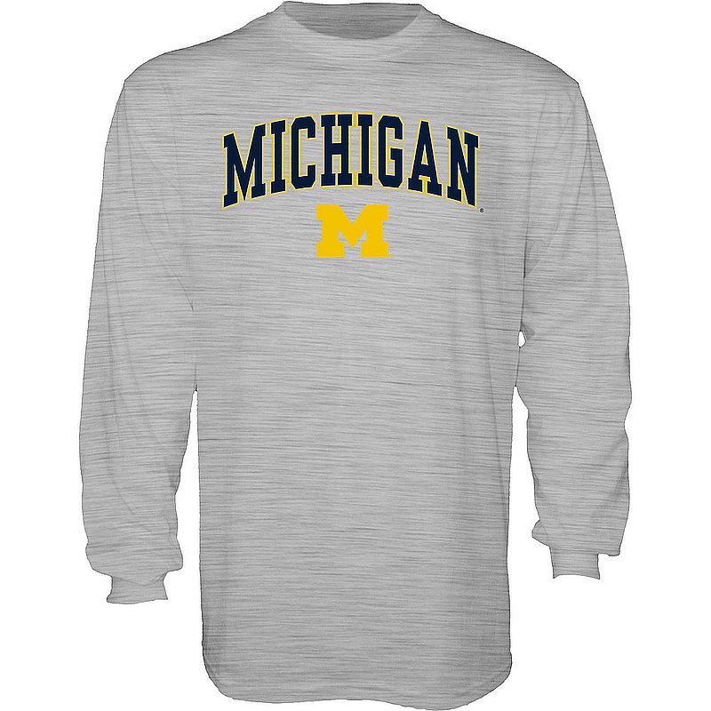 Michigan Wolverines Long Sleeve TShirt Varsity Gray APC02845656
