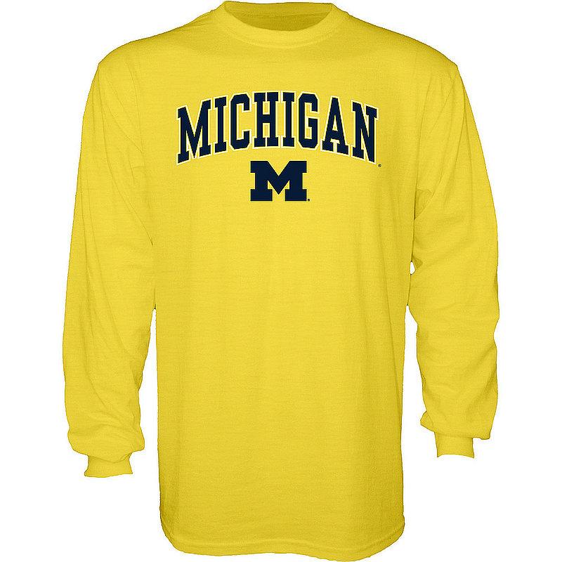 Michigan Wolverines Long Sleeve TShirt Varsity Maize APC02845656