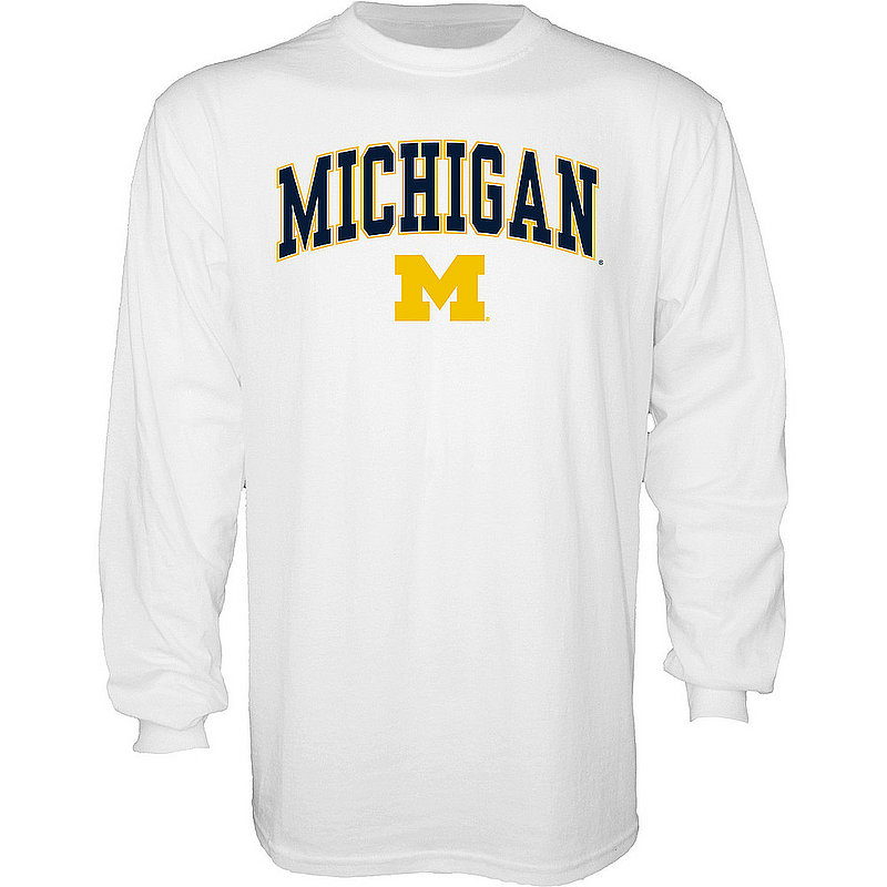 Michigan Wolverines Long Sleeve TShirt Varsity White APC03006190