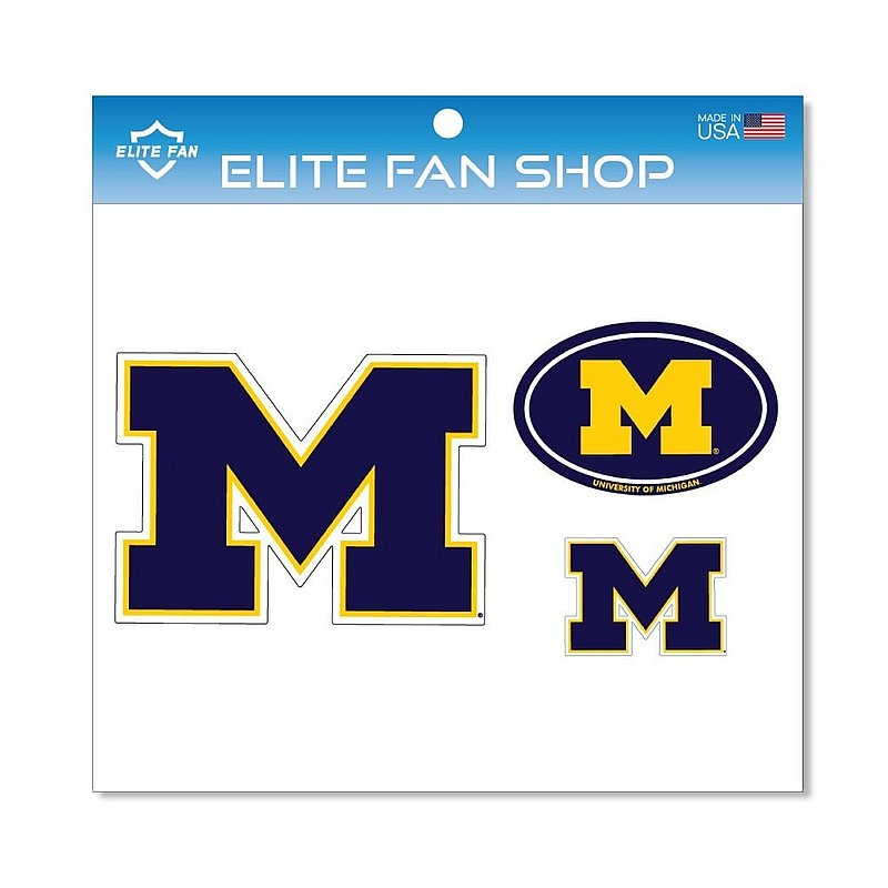 Michigan Wolverines Magnet 3-Pack
