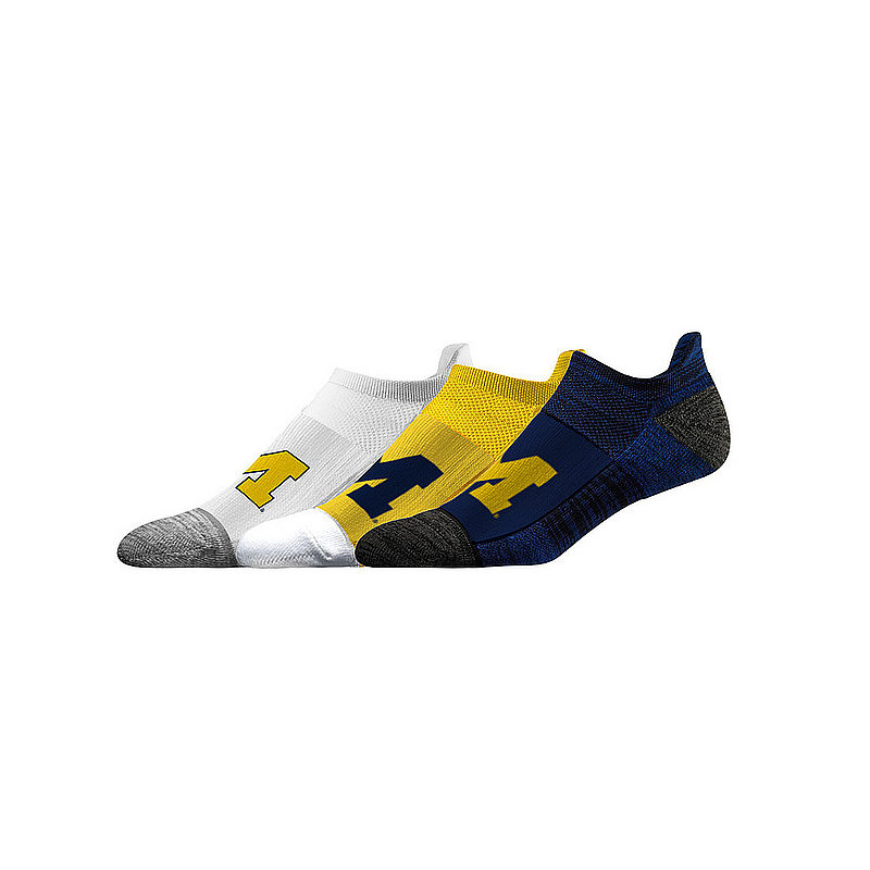 Michigan Wolverines No Show Socks 3-Pack