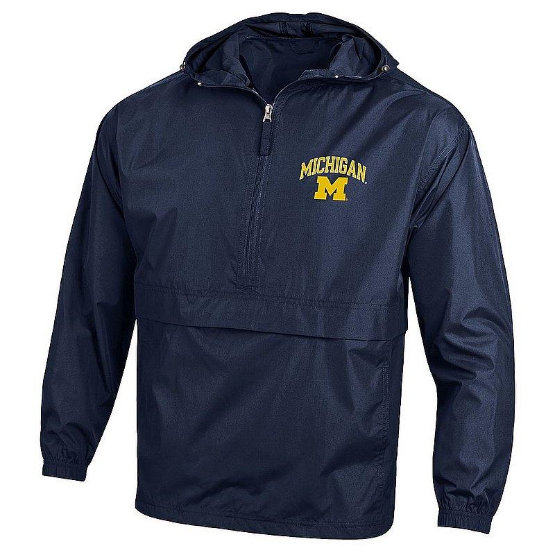 Michigan Wolverines Packable Jacket Navy