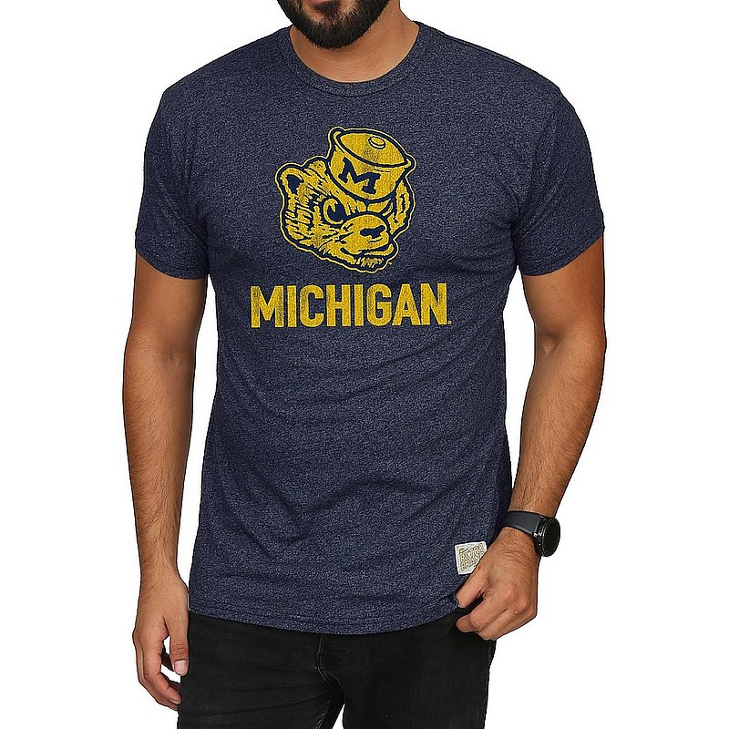 Michigan Wolverines Retro TShirt Navy