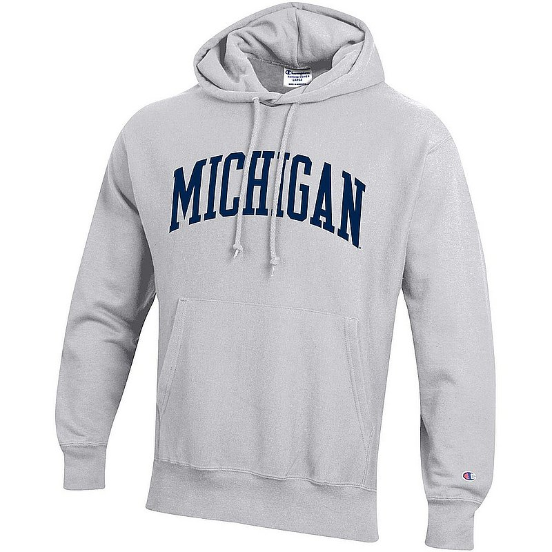 Michigan Wolverines Reverse Weave Hoodie Sweatshirt Gray APC03004947