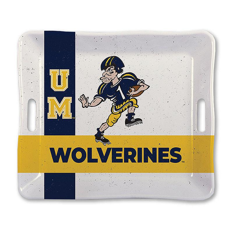 "Michigan Wolverines Serving Tray 17"" x 14.75"" MI MEL TRAY 17X14.75"