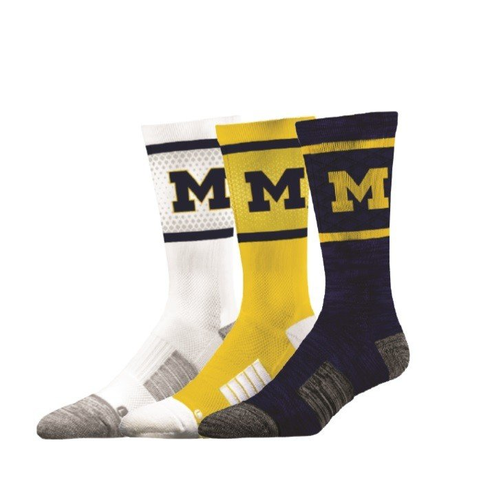 Michigan Wolverines Socks 3-Pack