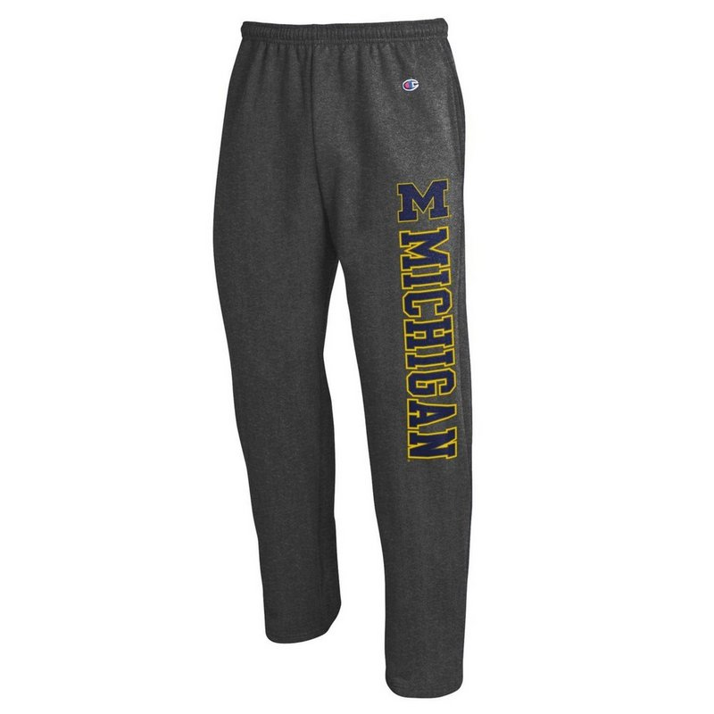 Michigan Wolverines Sweatpants Pockets Charcoal APC02859930