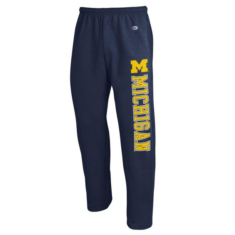 Michigan Wolverines Sweatpants Pockets Navy APC02845658
