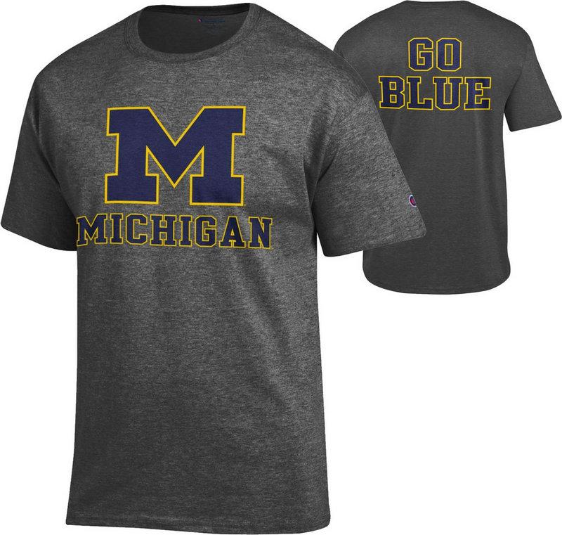 Michigan Wolverines TShirt Back Charcoal APC02885904/APC02867876