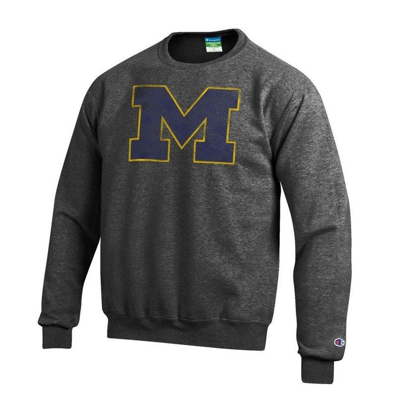 Michigan Wolverines Vintage Crewneck Sweatshirt Charcoal APC02867878