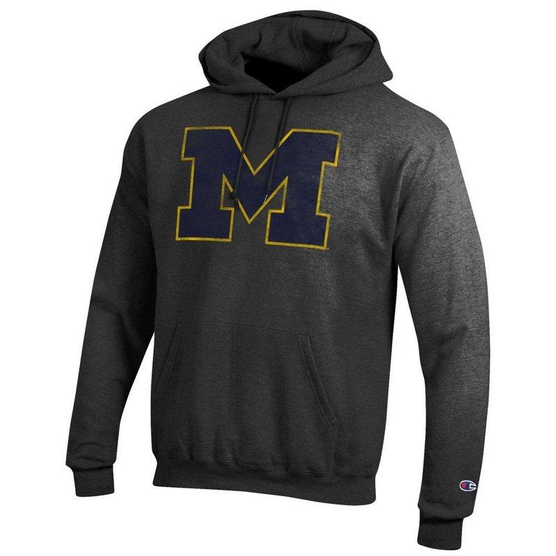 Michigan Wolverines Vintage Hoodie Sweatshirt Heather Gray APC02867878