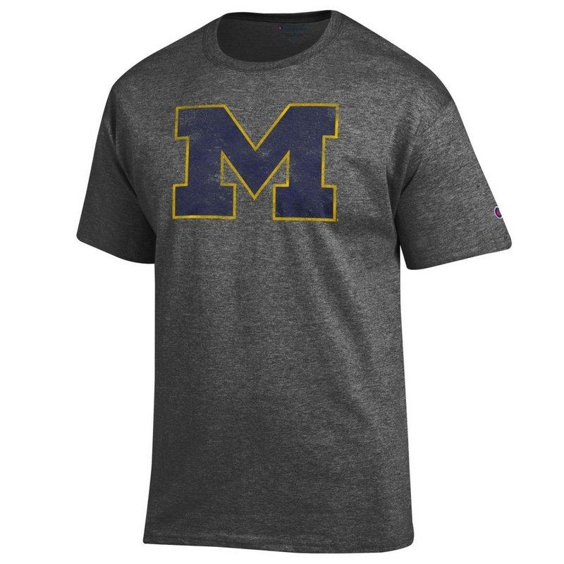 Michigan Wolverines Vintage TShirt Charcoal APC02867878