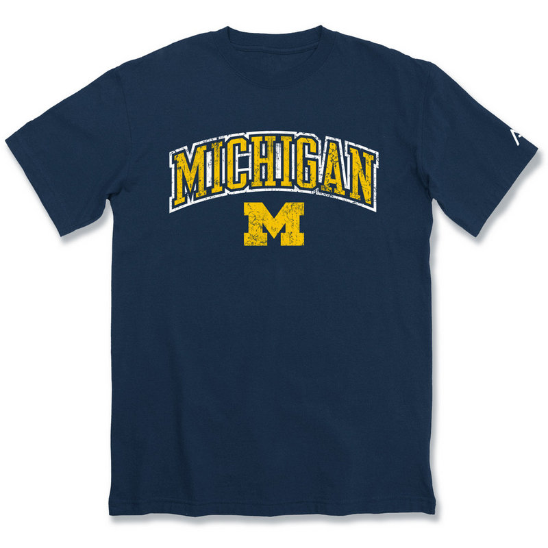 Michigan Wolverines Vintage TShirt Navy