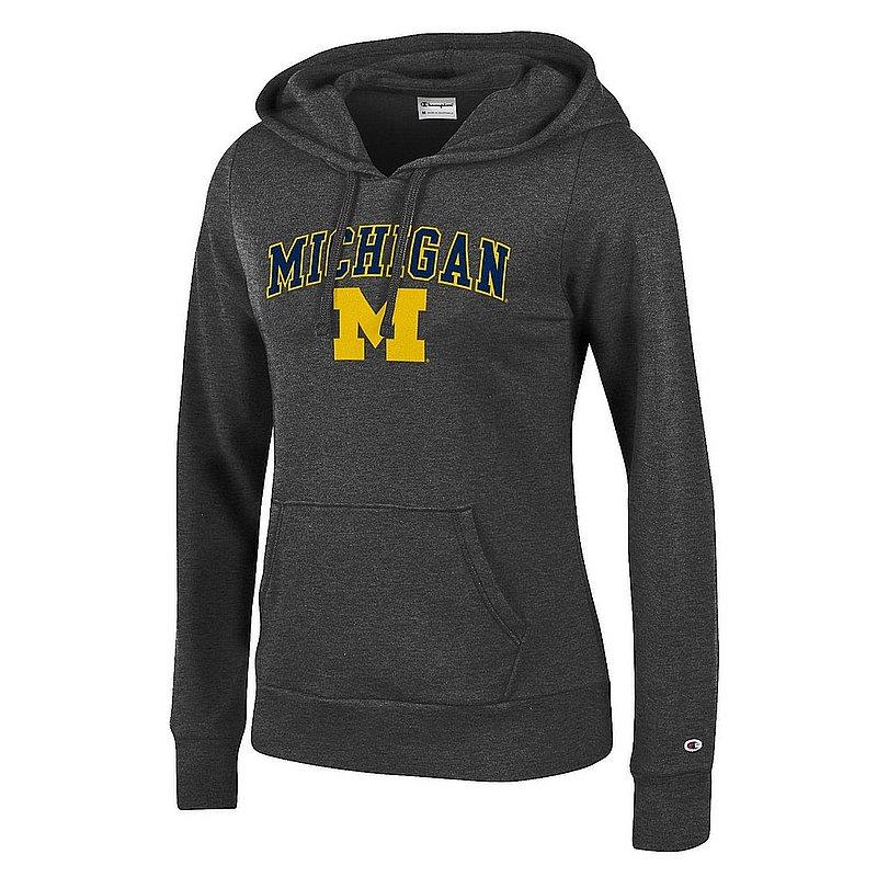 Elite Fan Shop Fan Favorite Dark Heather Arch Hoodie Sweatshirt