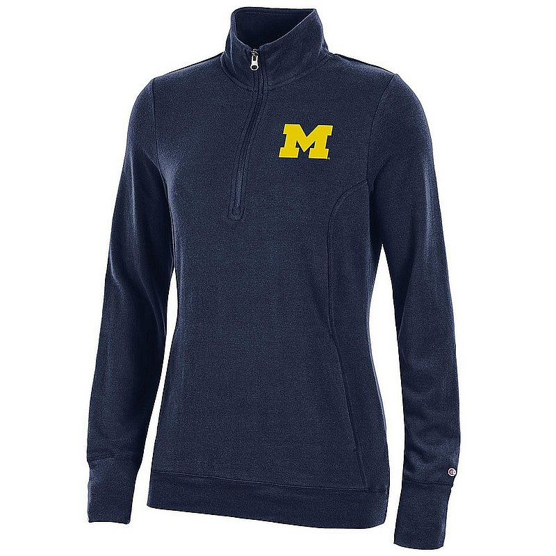 Michigan Wolverines Women's Quarter Zip Navy