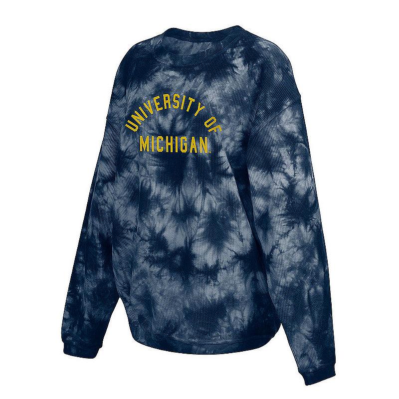 Michigan Wolverines Women's Tie-Dye Corded Crewneck Sweatshirt 443-50-UM519
