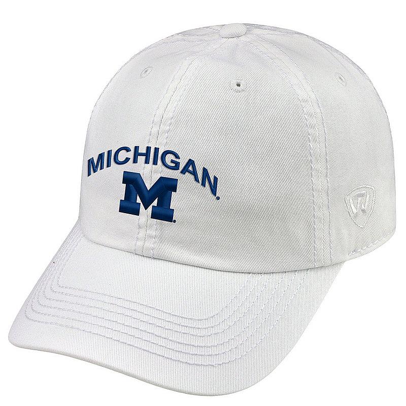 Michigan Wolverines Womens Hat Arch White CHAMP-MI-ADW-WHT1