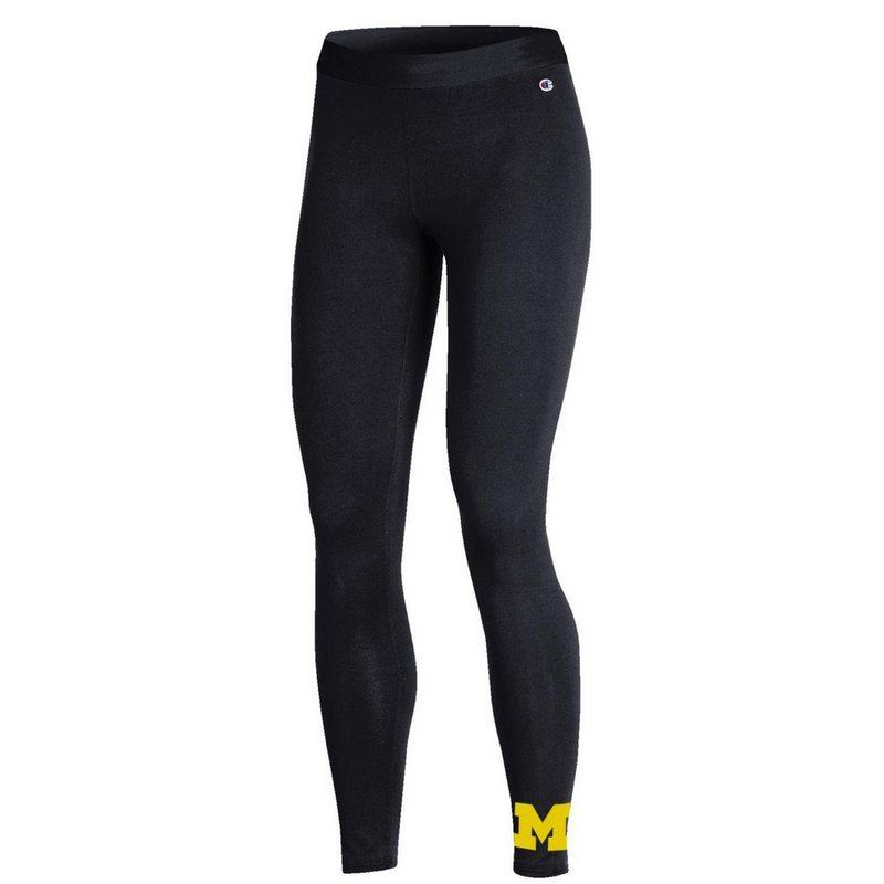 Michigan Wolverines Womens Leggings Black APC03318920