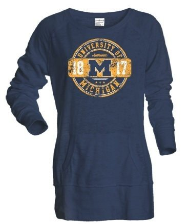 Michigan Wolverines Womens Sweatshirt Navy