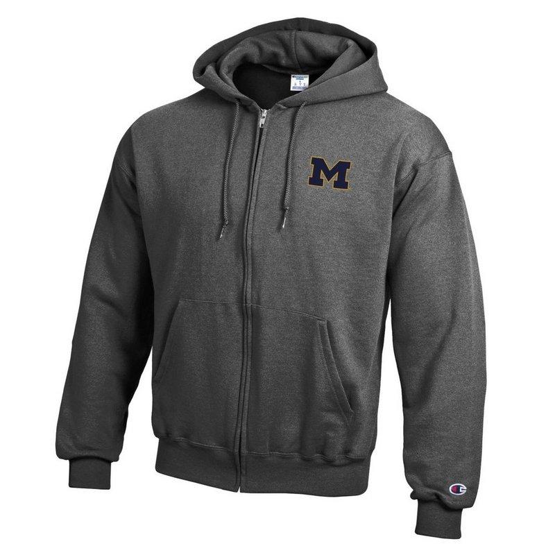 Michigan Wolverines Zip Up Hoodie Sweatshirt Captain Gray APC03197464