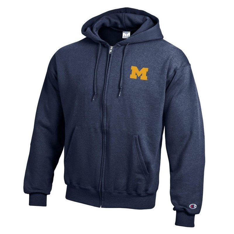 Michigan Wolverines Zip Up Hoodie Sweatshirt Captain Navy APC03197466