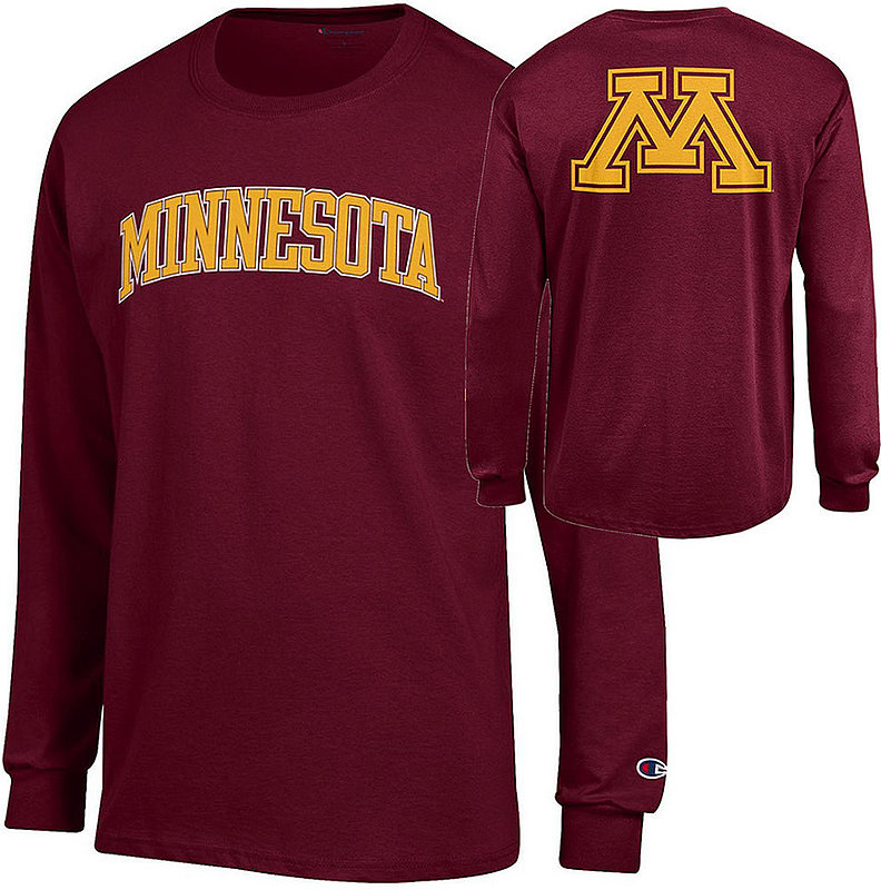 Minnesota Golden Gophers Long Sleeve TShirt Back Maroon APC03009459-APC03009460