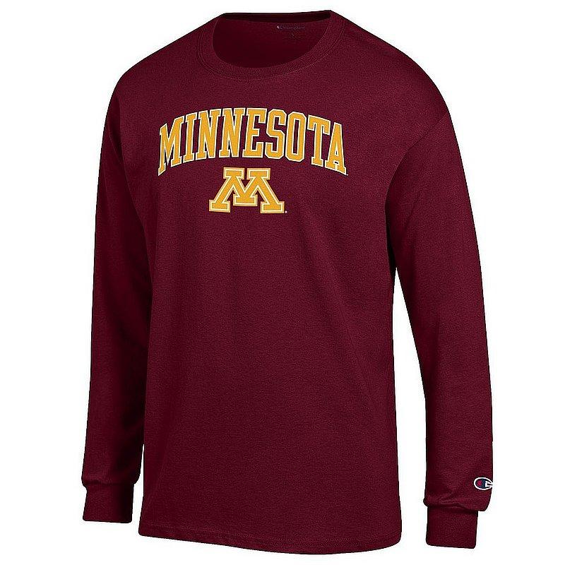 Minnesota Golden Gophers Long Sleeve Tshirt Varsity Maroon APC02964284