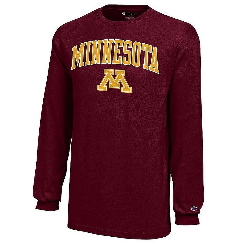 Minnesota Golden Gophers Long Sleeves Kids TShirt Arch Maroon APC03020187