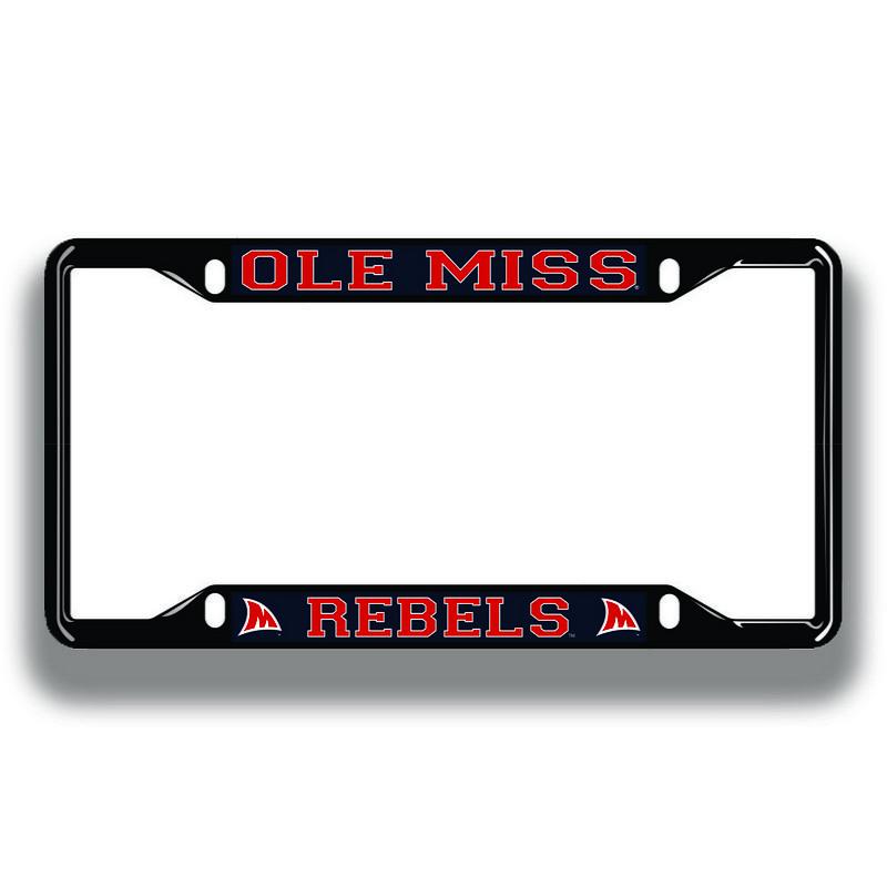 Mississippi Ole Miss Rebels License Plate Frame Black 24353