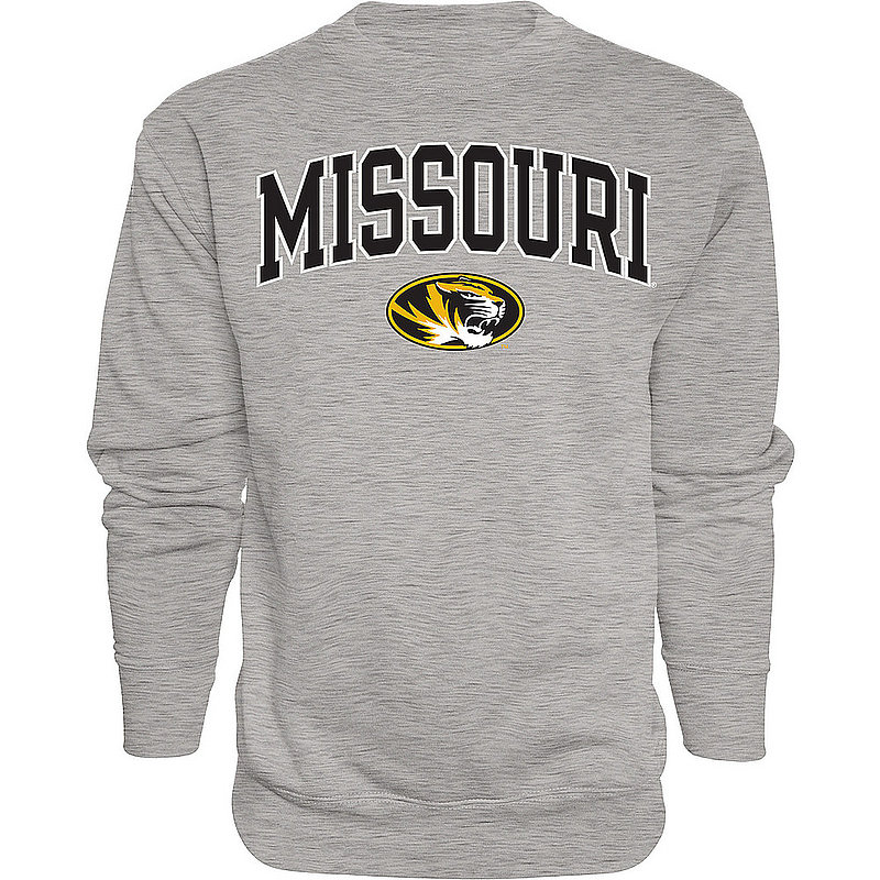 Missouri Tigers Crewneck Sweatshirt Varsity Charcoal Arch Over APC02879952*