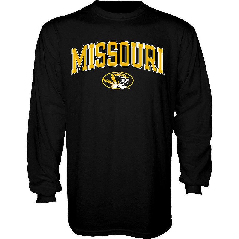 Missouri Tigers Long Sleeve Tshirt Varsity Black Arch Over Shirt 00000000B5M23