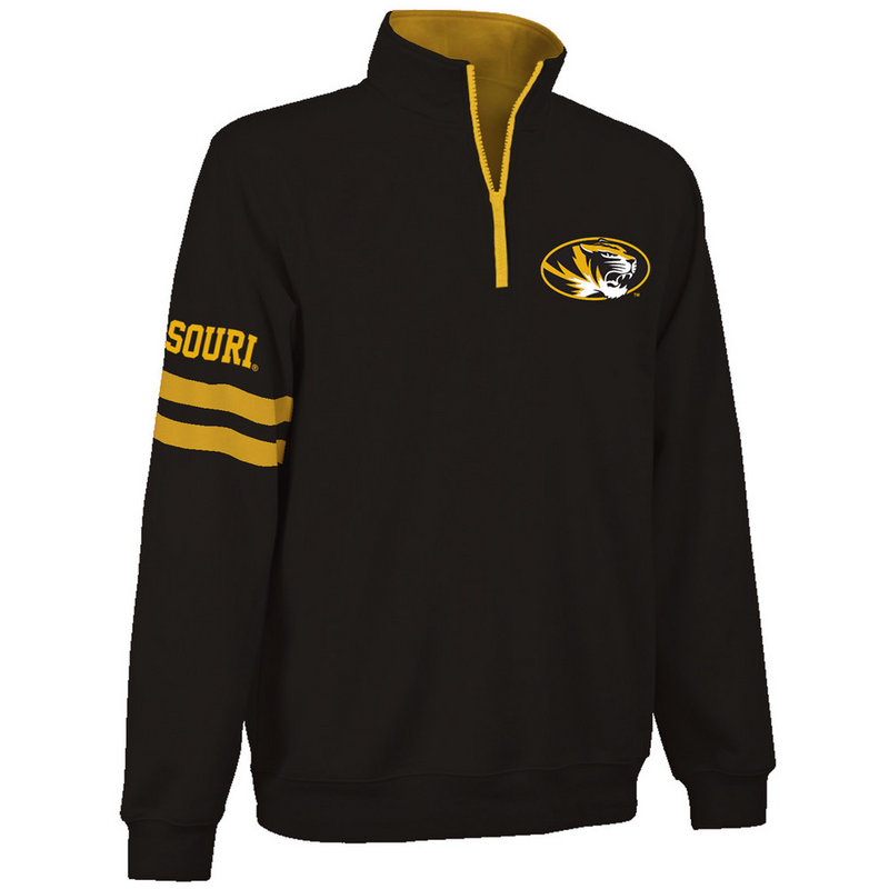1fb018483a9 Missouri Tigers Quarter Zip Sweatshirt Captain Black MIS9A680