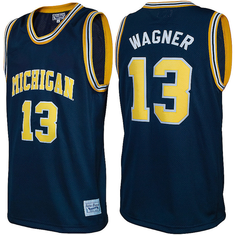 Moritz Wagner Retro Michigan Wolverines Basketball Jersey MICMWN04A_RB7027F_NVY