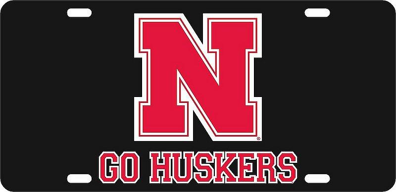 Nebraska Cornhuskers License Plate Black 27301