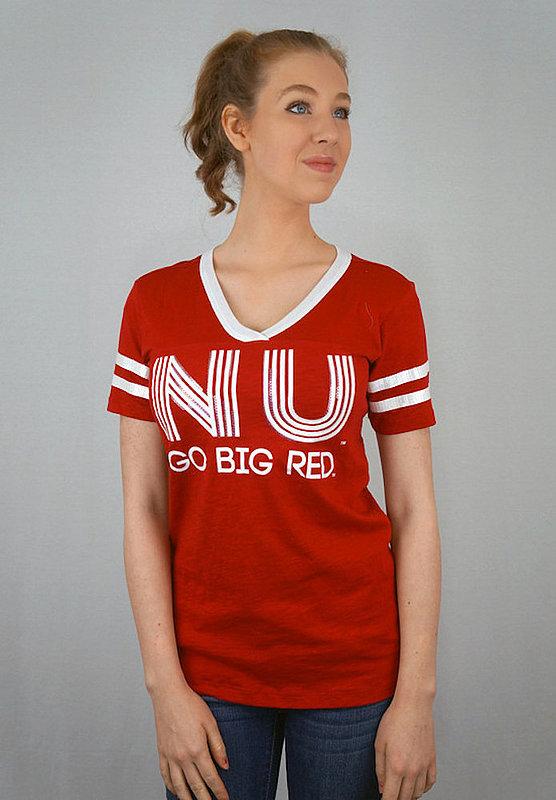 Nebraska Cornhuskers Women's TShirt Captain Scarlet NEBJV502
