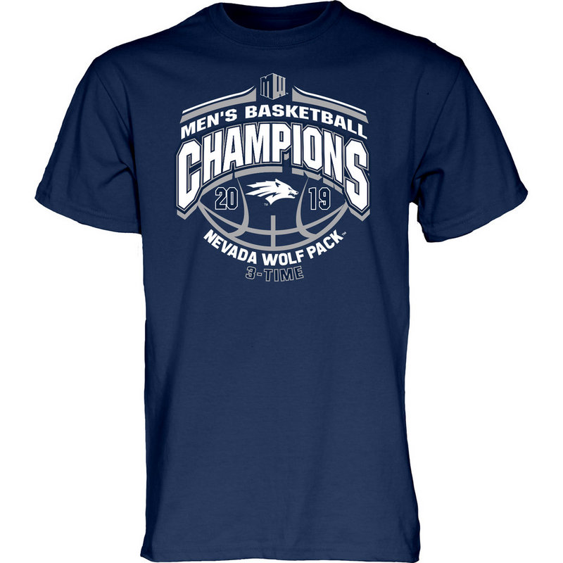 Nevada Wolf Pack Mountain West Basketball Championship Tshirt 2019 Conference MILK DUDS