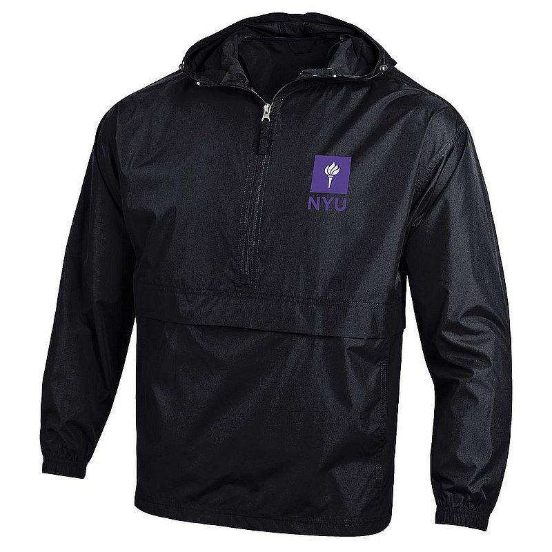 23be92ee232 New York University Violets Packable Jacket Black