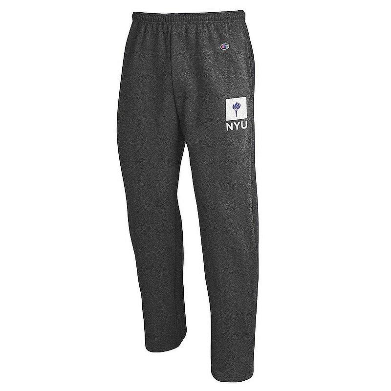 New York University Violets Sweatpants Pockets Charcoal APC02964455