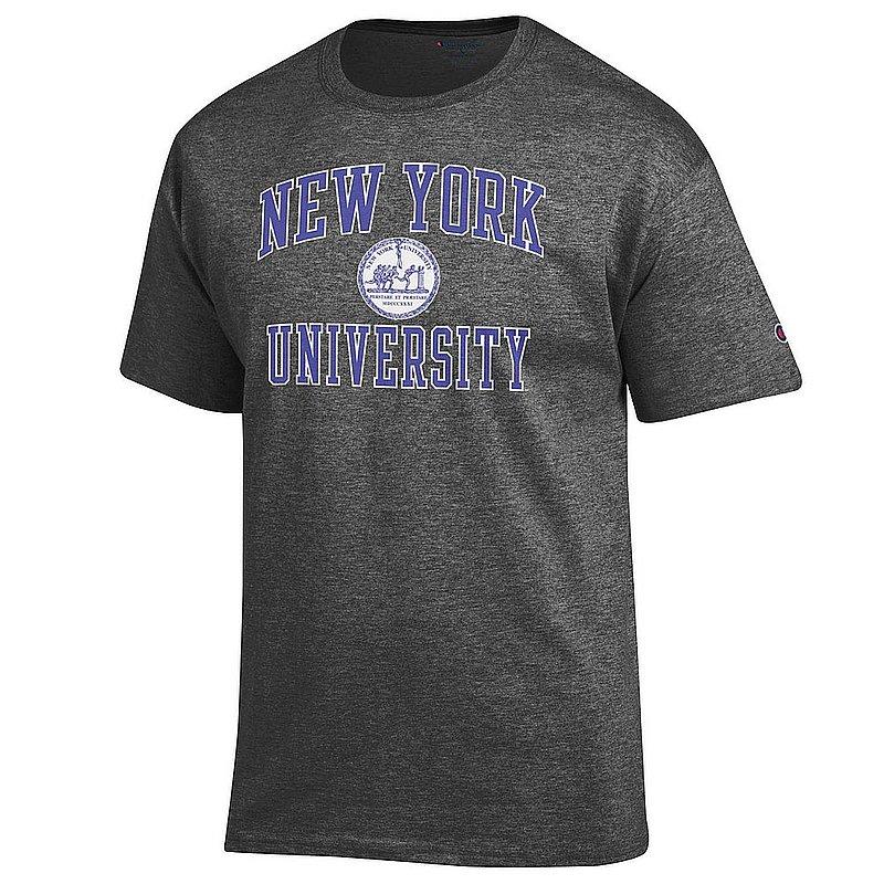 New York University Violets TShirt Seal Charcoal APC02974600