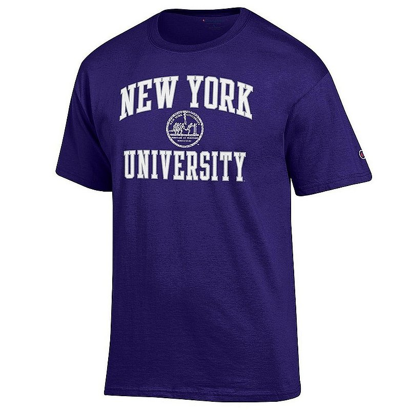 New York University Violets TShirt Seal Purple Arch Over APC02964262*